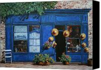 Street Scene Canvas Prints - I Cappelli Gialli Canvas Print by Guido Borelli