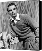 1953 Movies Canvas Prints - I Confess, Montgomery Clift, 1953 Canvas Print by Everett
