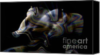 Silver Canvas Prints - I Canvas Print by David  Naman