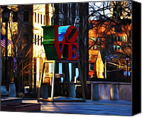 Love Park Canvas Prints - I Did It For Love Canvas Print by Bill Cannon