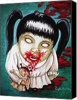 Horror Canvas Prints - I didnt do it Canvas Print by Al  Molina
