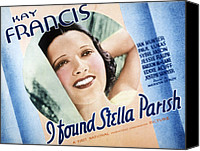 1935 Movies Canvas Prints - I Found Stella Parish, Kay Francis, 1935 Canvas Print by Everett