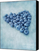 Berry Canvas Prints - I love blueberries Canvas Print by Priska Wettstein
