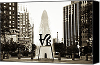 Love Park Canvas Prints - I Love Philadelphia Canvas Print by Bill Cannon