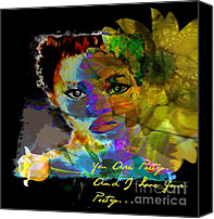 Faniart Africa America Canvas Prints - I Love Your Poetry Canvas Print by Fania Simon