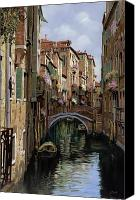 Gondola Canvas Prints - I Ponti A Venezia Canvas Print by Guido Borelli