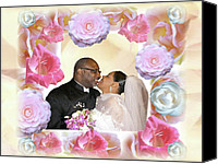 Terry Wallace Digital Art Canvas Prints - I Pronounce You Husband and Wife Canvas Print by Terry Wallace