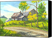 Barn Canvas Prints - I Remember When Canvas Print by Richard De Wolfe