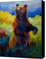 Denali Canvas Prints - I Spy - Grizzly Bear Canvas Print by Marion Rose
