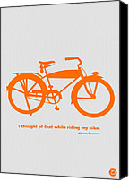 Riding Canvas Prints - I Thought Of That While Riding My Bike Canvas Print by Irina  March