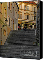 Prague Canvas Prints - I Walked the Streets of Prague Canvas Print by Christine Till