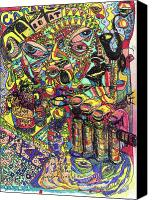 Neo Expressionism Canvas Prints - I Want To Be In That Number Canvas Print by Robert Wolverton Jr