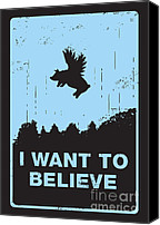 Movie Poster Canvas Prints - I want to believe Canvas Print by Budi Satria Kwan