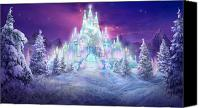 Scene Mixed Media Canvas Prints - Ice Castle Canvas Print by Philip Straub