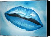 Featured Painting Canvas Prints - Ice Cold Lips Canvas Print by Paul Horton