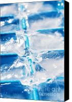 Crystals Canvas Prints - Ice Cubes Canvas Print by Carlos Caetano