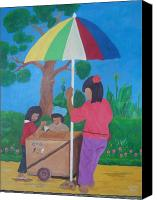 Vendor Painting Canvas Prints - ice Drop Vendor Canvas Print by Crispin Asensi
