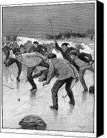 Ice-skating Canvas Prints - Ice Hockey, 1898 Canvas Print by Granger