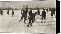Ice-skating Canvas Prints - Ice Hockey 1912 Canvas Print by Granger