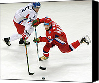 Skates Canvas Prints - Ice Hockey Canvas Print by Ria Novosti