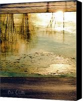 Wilderness Canvas Prints - Ice On The River Canvas Print by Bob Orsillo