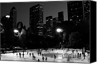 Skating Canvas Prints - Ice Skating in Central Park Canvas Print by Michael Dorn