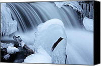 Fantasy Photo Canvas Prints - Ice Tombstone Frozen In Time Canvas Print by John Stephens