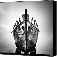 Ship Wreck Canvas Prints - Iceland Ghost Ship Canvas Print by Nina Papiorek