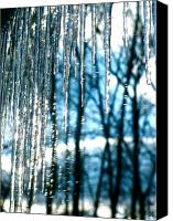 14; The Light Canvas Prints - Icicle Art Fun 16 Canvas Print by Debra     Vatalaro