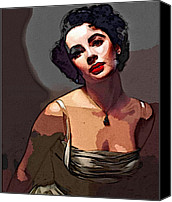 Elizabeth Taylor Canvas Prints - Icon Series - Elizabeth Taylor Canvas Print by Dolly Mohr