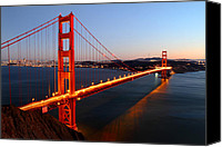 Pont Canvas Prints - Iconic Golden Gate Bridge in San Francisco Canvas Print by Pierre Leclerc
