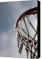 Basketball Canvas Prints - Icy Hoops Canvas Print by Nadine Rippelmeyer
