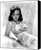 Satin Dress Canvas Prints - Ida Lupino Canvas Print by Everett