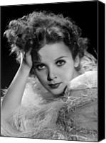 Publicity Shot Canvas Prints - Ida Lupino, Paramount Pictures Photo Canvas Print by Everett