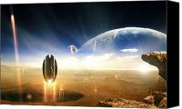 Judgment Day Canvas Prints - Idea Taken From Star Trek. The Project Canvas Print by Tobias Roetsch