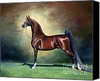 American Saddlebred Art Canvas Prints - Ideal Proportions Canvas Print by Jeanne Newton Schoborg