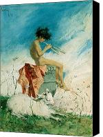 Signed Painting Canvas Prints - Idyll Canvas Print by Mariano Fortuny y Marsal
