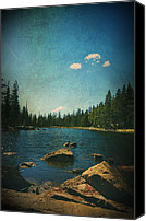 Scenic Digital Art Canvas Prints - If It Could Be Just You and Me Canvas Print by Laurie Search