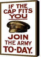 War Effort Canvas Prints - If The Cap Fits You Join The Army Canvas Print by War Is Hell Store