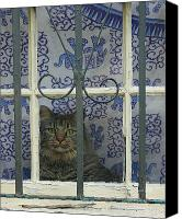 Critter Canvas Prints - If You Let Me Out ILL Be Good Canvas Print by Suzanne Gaff