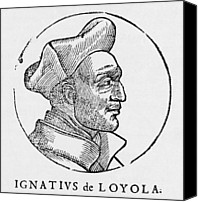 Loyola Canvas Prints - Ignatius Of Loyola, Founder Of Jesuits Canvas Print by Middle Temple Library