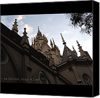 Retratodebelohorizonte Canvas Prints - #igreja #catedral Canvas Print by Diogo Rocha