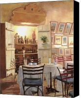 Pub Canvas Prints - Il Caffe Dellarmadio Canvas Print by Guido Borelli