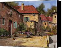 Chicken Canvas Prints - Il Carretto Canvas Print by Guido Borelli