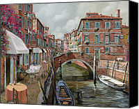 Venice Canvas Prints - Il Fosso Ombroso Canvas Print by Guido Borelli
