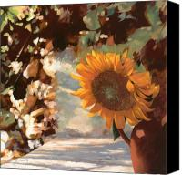 Vase Canvas Prints - Il Girasole Canvas Print by Guido Borelli