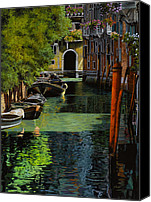 Nature Painting Canvas Prints - il palo rosso a Venezia Canvas Print by Guido Borelli