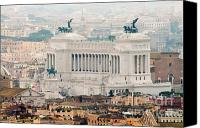 National Monument Canvas Prints - Il Vittoriano Canvas Print by Andy Smy