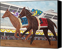 Preakness Canvas Prints - Ill Have Another wins preakness Canvas Print by Glenn Stallings