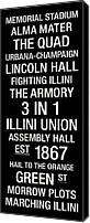 Fighting Canvas Prints - Illinois College Town Wall Art Canvas Print by Replay Photos